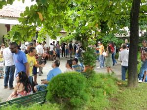 Representantes de Escolas de Samba da região e da Capital se despediram do Mestre da Bateria da 'Brasil'</center<